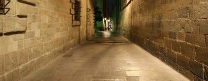 четверть ночи barcelona готская Стоковые Фотографии RF