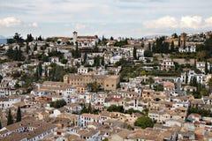 четверть панорамы moorish albaicin Стоковая Фотография