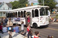 Четверть парада в Chalfont, PA в июле США Стоковые Изображения RF
