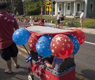 Четверть парада в Chalfont, PA в июле США Стоковое Фото