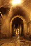 четверть стародедовского jerusale переулка еврейская стоковое изображение
