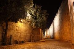 четверть стародедовского jerusale переулка еврейская стоковые изображения rf