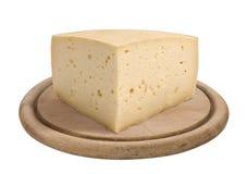Четверть формы сыра Asiago стоковая фотография