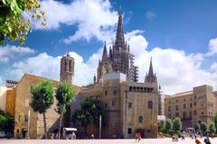 четверть церков barcelona готская стоковые фото