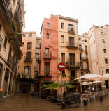 четверть barcelona зодчества gotic стоковая фотография rf