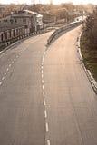 Четырехпроводная вымощенная дорога в Львове, Украине Стоковые Фото