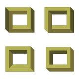 Четырехугольники обмана зрения Стоковые Фото