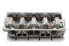 Четырехцилиндровая головка двигателя Стоковое Изображение