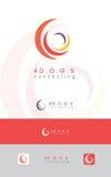 Четырехэлементные, круговые корпоративные логотип/значок Стоковое Изображение RF