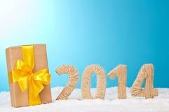 20-четырнадцатый Новый Год чисел ткани Стоковые Изображения