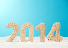 20-четырнадцатый Новый Год чисел ткани Стоковое Изображение RF