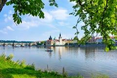 Чехия Влтавы Праги реки Стоковое Изображение RF