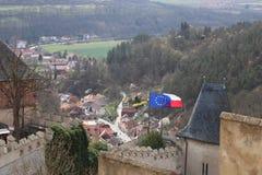 Чехия замка tejn ¡ KarlÅ Стоковые Фотографии RF
