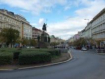 Чехия, квадрат Праги - Vaclav стоковые фото
