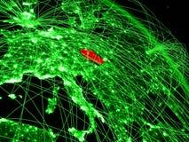 Чехия на зеленом глобусе иллюстрация штока