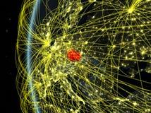 Чехия от космоса с сетью иллюстрация штока