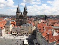 Чехия Прага Veiw в центре города стоковая фотография rf