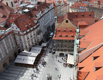 Чехия Прага Veiw в центре города стоковые изображения