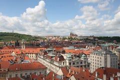 Чехия Прага Veiw в центре города стоковое фото rf