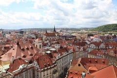Чехия Прага Veiw на центре города стоковые фотографии rf