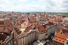 Чехия Прага Veiw на центре города стоковые изображения rf