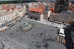 Чехия Прага Veiw на центре города стоковое фото rf