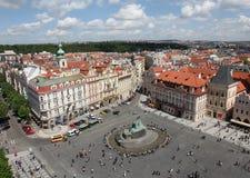 Чехия Прага Veiw на центре города стоковая фотография
