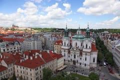 Чехия Прага Veiw на центре города стоковое изображение