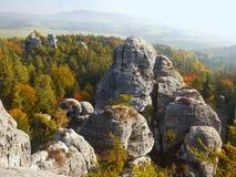 Чехия, рай природы богемский, ЮНЕСКО Geopark стоковое изображение