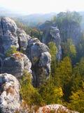 Чехия, рай природы богемский, ЮНЕСКО Geopark стоковое фото
