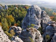 Чехия, рай природы богемский, ЮНЕСКО Geopark стоковое изображение rf