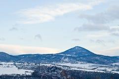 чехословакская зима ландшафта Стоковые Изображения