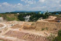 чехословакская республика открытого карьер шахты магния Стоковое Изображение