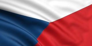 чехословакская республика флага Стоковые Изображения RF