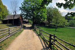 чехословакская старая дорожка села Стоковое Изображение RF