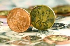 чехословакские деньги Стоковая Фотография