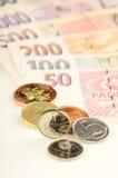 чехословакские деньги Стоковое Фото