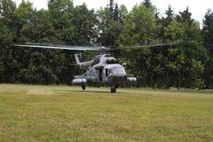 Чехословакский вертолет перехода Mil Mi-17 военновоздушной силы Стоковое Фото