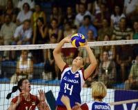 чехословакский волейбол республики Венгрии игры Стоковая Фотография