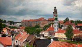 чехословакский городок krumlov стоковое фото rf