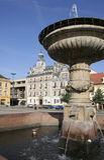 чехословакский квадрат республики kolin Стоковые Изображения RF