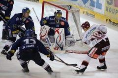 чехословакский льдед хоккея extraleague Стоковая Фотография RF