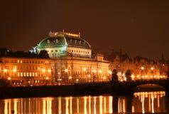чехословакский национальный театр Стоковая Фотография RF