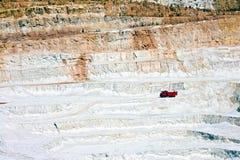 чехословакский открытый карьер шахты Стоковая Фотография