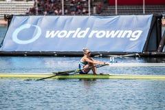 Чехословакский спортсмен на rowing конкуренции чашки мира гребя Стоковая Фотография