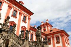 чехословакское troja республики prague дворца Стоковое фото RF