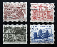 чехословацкие штемпеля Стоковое Изображение