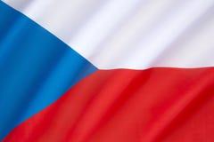 чехословакская республика флага Стоковая Фотография
