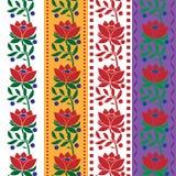 Чехословакская фольклорная безшовная лента жаккарда ткани картины уравновешивает вектор изображения иллюстраций download готовый иллюстрация вектора