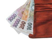 чехословакские деньги Стоковое Изображение